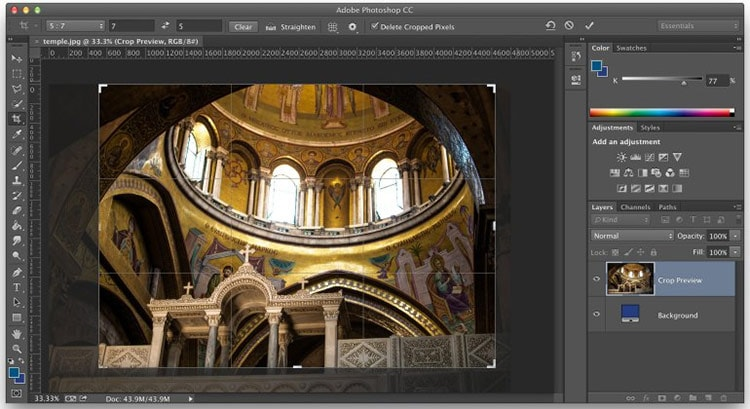 How to Crop Non-Destructively in Photoshop