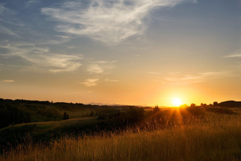 Big hill sunset