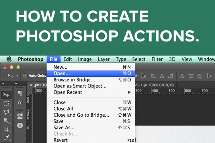 How to Create Photoshop Actions