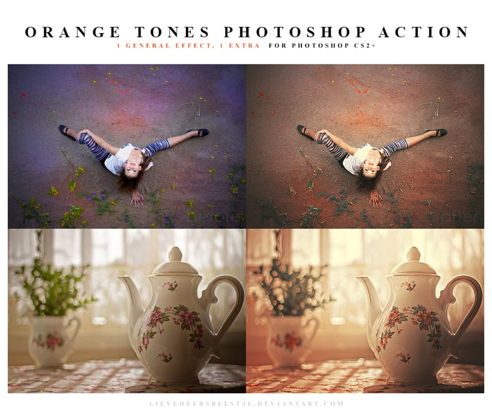 Photoshop Orange tones action