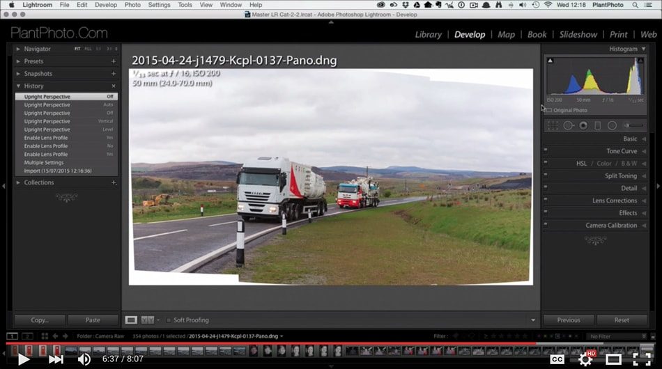 How to Stitch a Panorama in Adobe Lightroom
