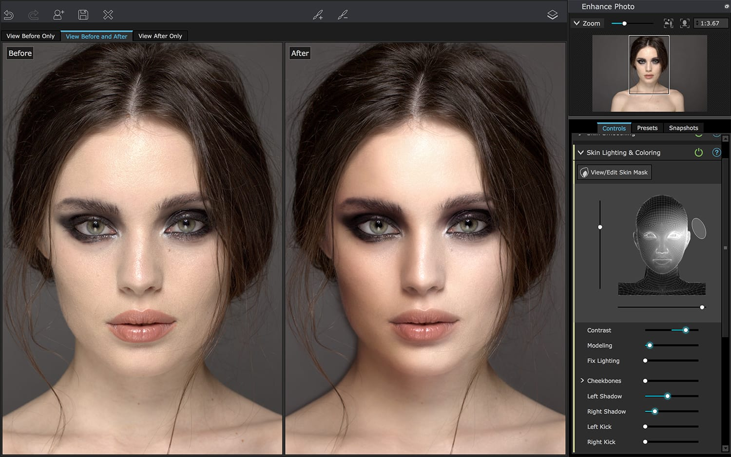 PortraitPro 19 - Lighting