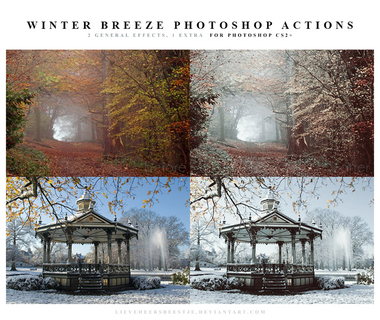 Winter Breeze Photoshop Action